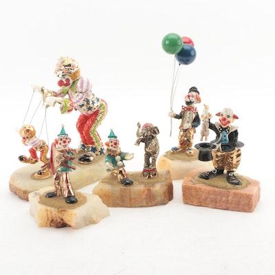 "Ron Lee ""Hobo Joe"" and Other Clown Figurines"