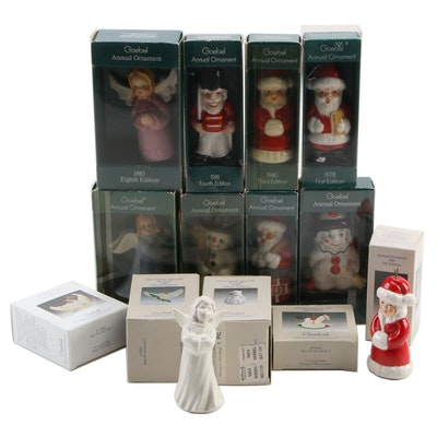 Goebel Annual Christmas Ornaments, 1970s-1990s