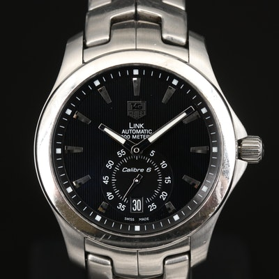 TAG Heuer Link Calibre 6 Stainless Steel Automatic Wristwatch