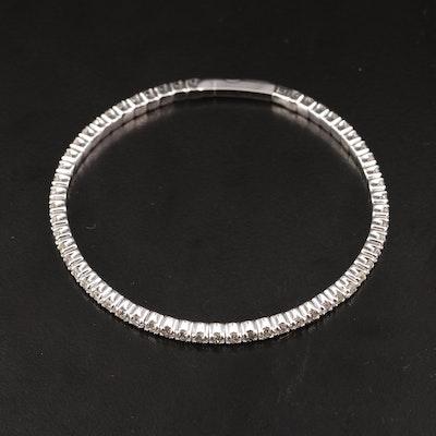 14K Semi-Flexible 4.02 CTW Diamond Bangle