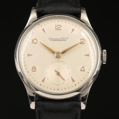 Vintage IWC Stainless Steel Stem Wind Wristwatch