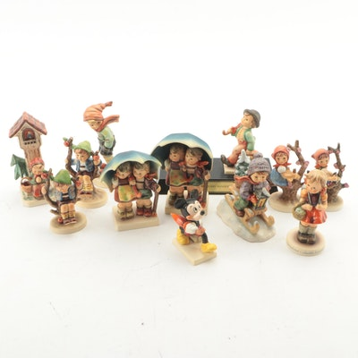 "Goebel Hummel ""Two Merry Wanderers"" and Other Figurines"