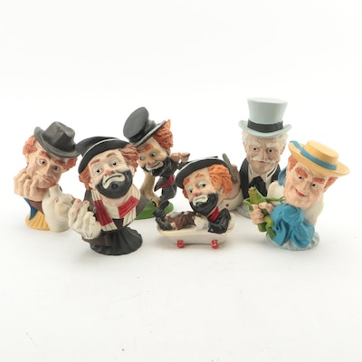 JM Company Red Skelton Cast Resin Figurines, Late 20th Century