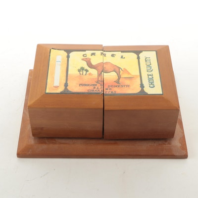 Thomas Museum Series Camel Cigarette Replica Wood Jewelry Box, 1997