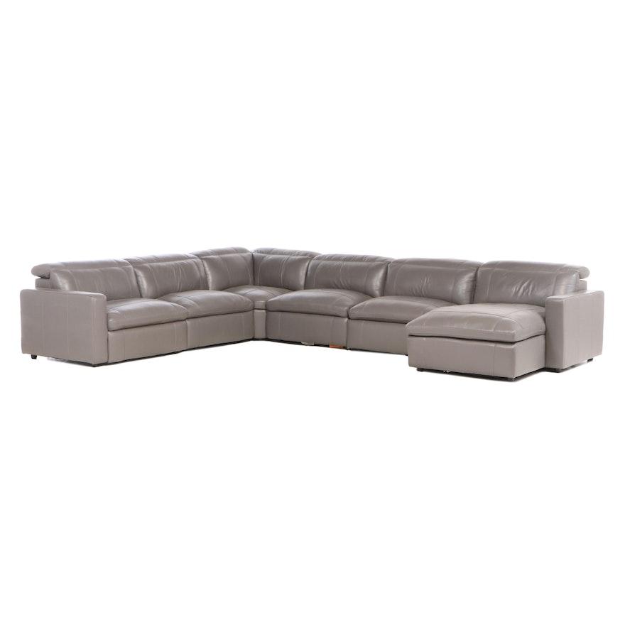 American Signature Inc. Six-Piece Leather Modular Seating Group