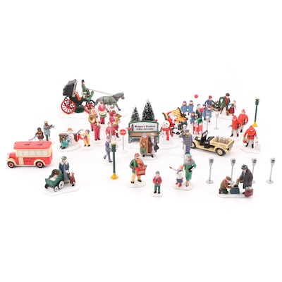 Department 56 Heritage Village Collection Porcelain Figurines, Late 20th Century
