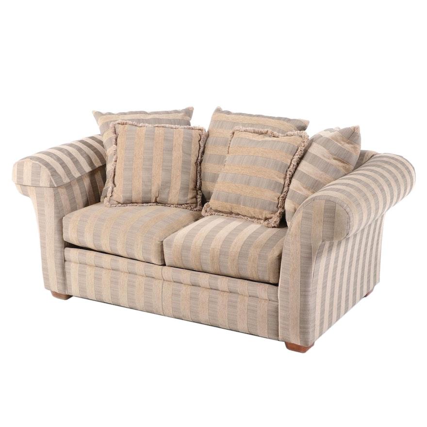 Rowe Woven Stripe Upholstered Loveseat