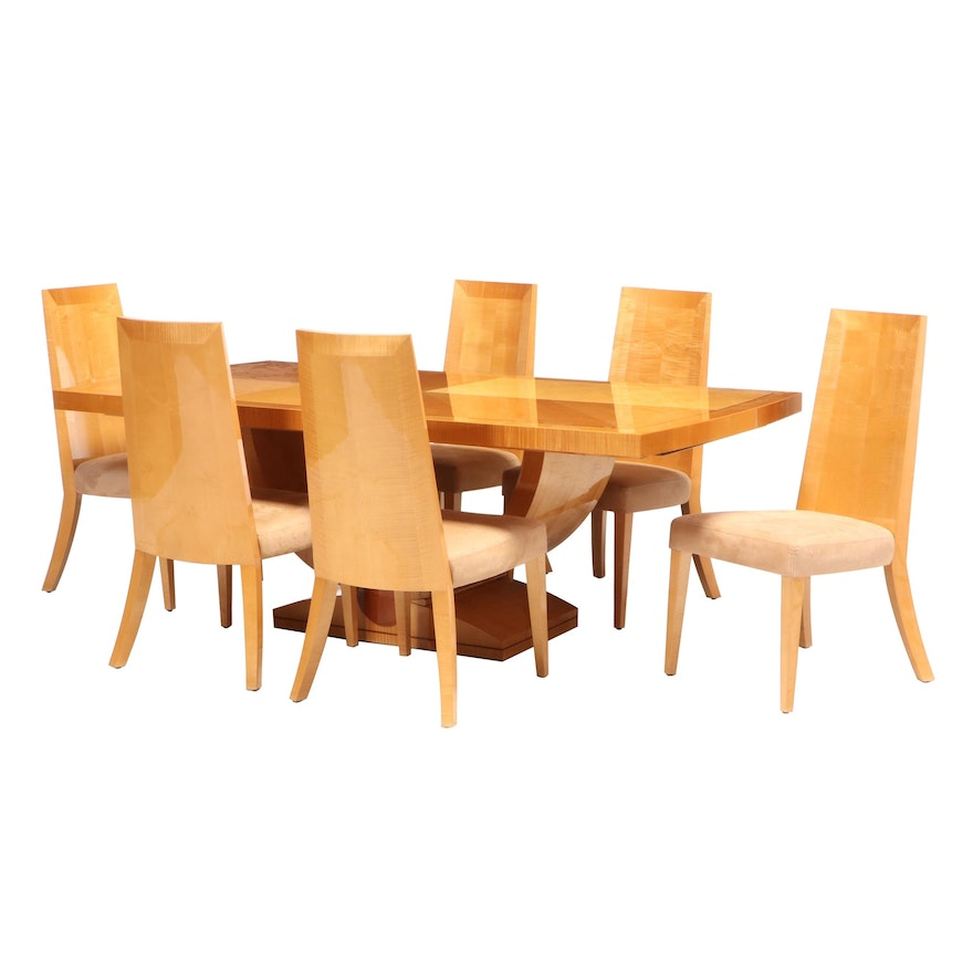 Artedi Modernist Maple Dining Table and Chairs