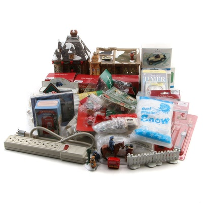 """Department 56 """"Fire Station No. 1"""" and Other Christmas Holiday Decor"""