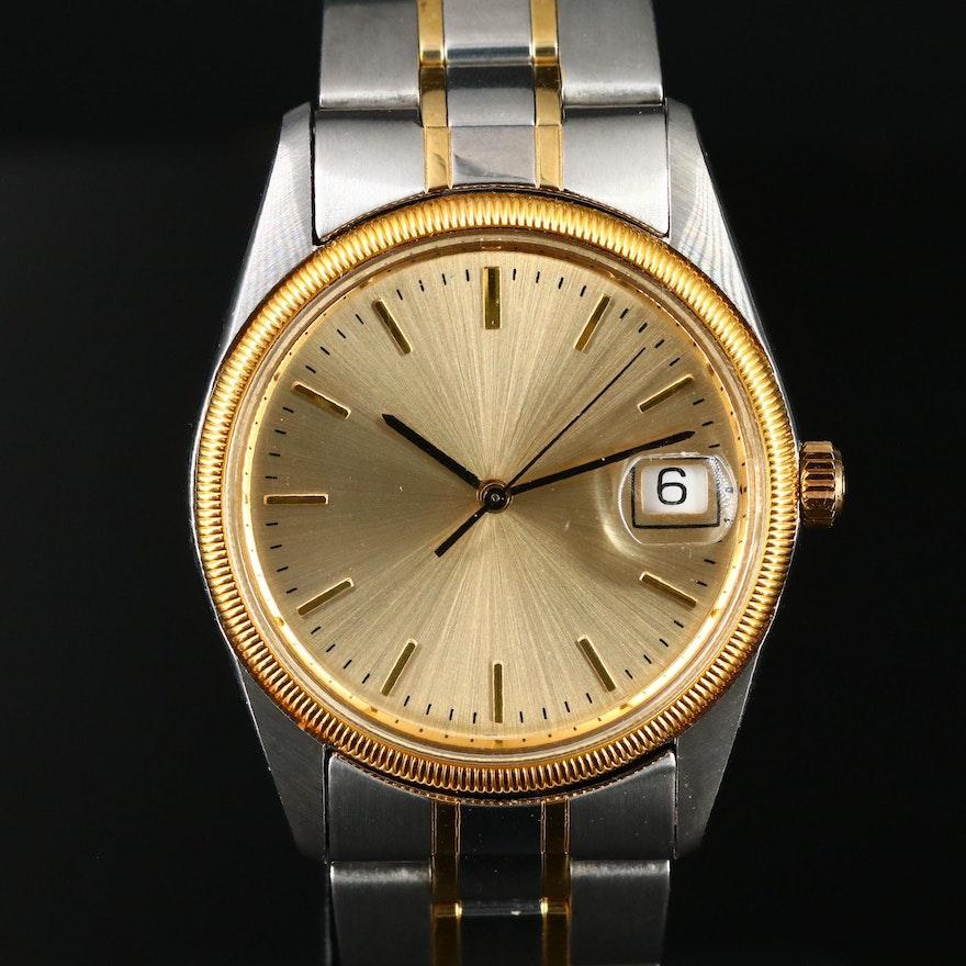 Two Tone Hamilton Masterpiece with Date Quartz Wristwatch