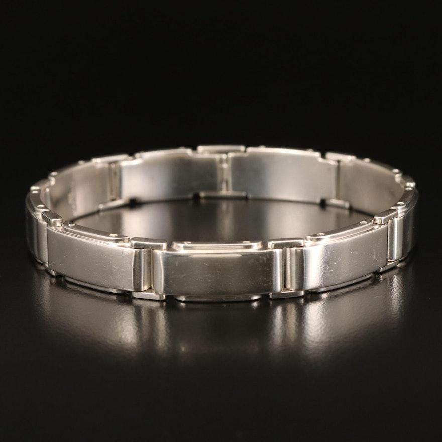 "Tiffany & Co. Sterling ""Metropolis"" Panel Bracelet"