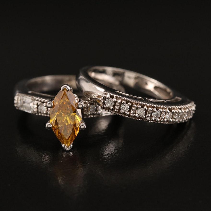 14K 2.34 Diamond Ring and Diamond Enhancer Band