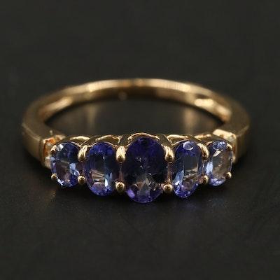 EFFY 14K YELLOW GOLD DIAMOND, TANZANITE RING