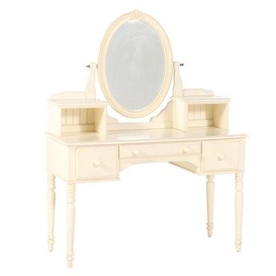 """Ethan Allen """"Chloe"""" Cream-Painted Vanity Table"""