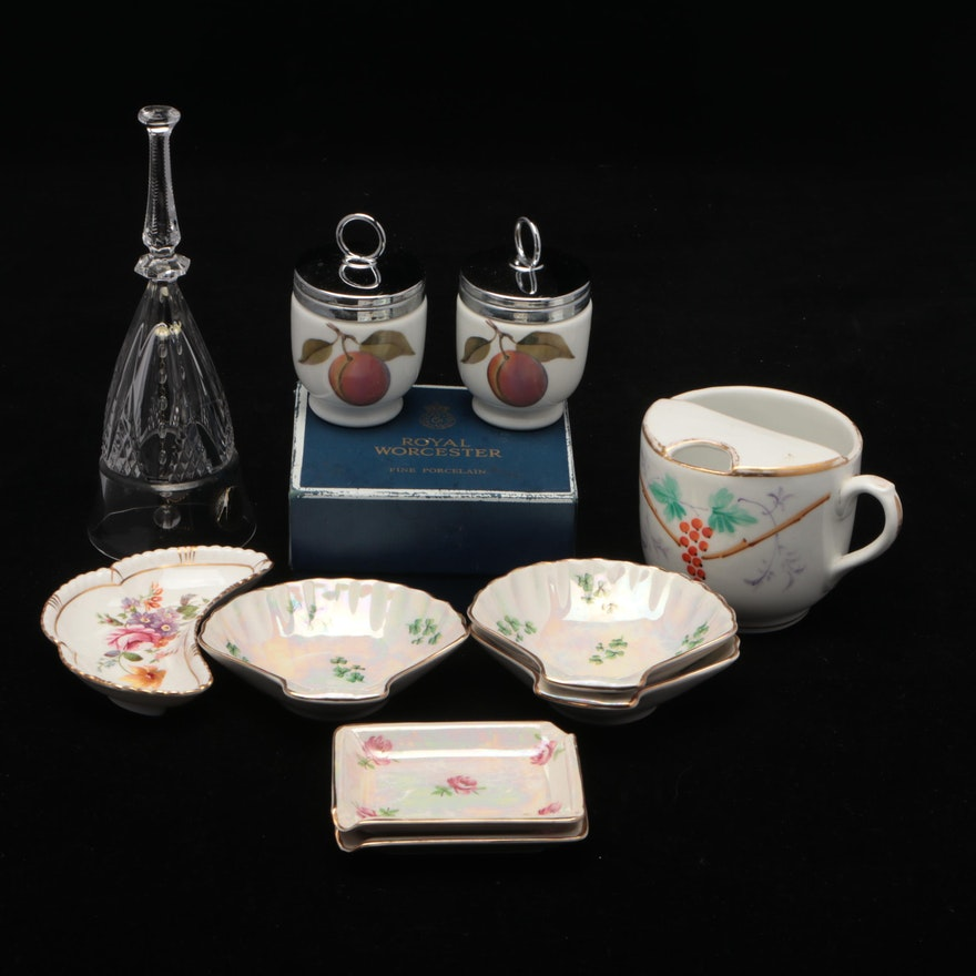 Royal Worcester, Royal Crown Derby, and Royal Winton Porcelain Table Accessories