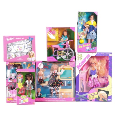 """Barbie Collection Including Ken Doll, """"Teacher Barbie"""" and Others"""