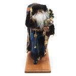 Lynn Haney Collection Santa Claus Wizard in Celestial Blue Robe, 1993