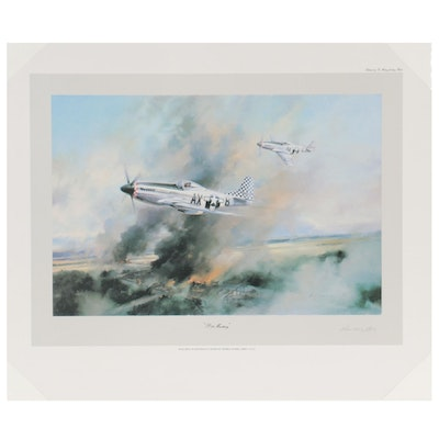 """Offset Lithograph After Robert Taylor """"Mustang Recce"""""""