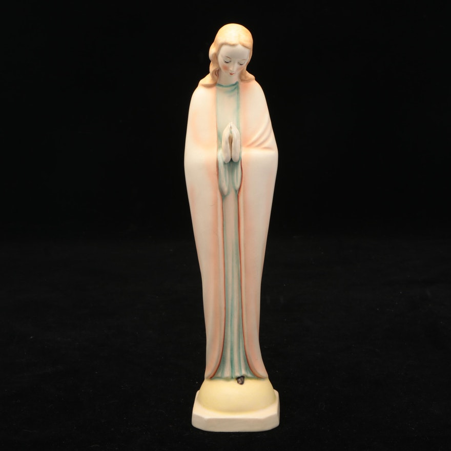 Goebel Ceramic Virgin Mary Figurine, Mid to Late 20th Century