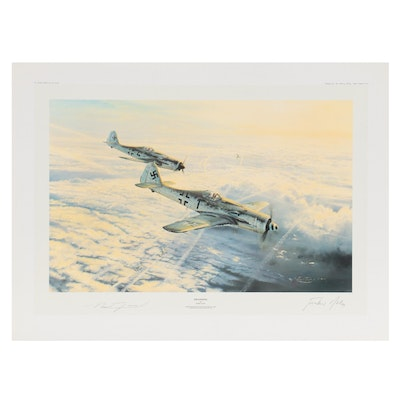 """Robert Taylor Offset Lithograph """"Swansong,"""" Late 20th Century"""