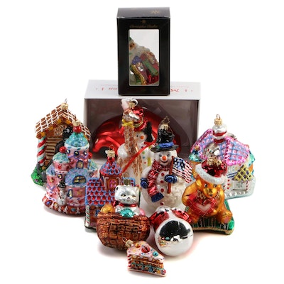 """Christopher Radko """"Candy Land Corner"""" Christmas Ornaments and More"""