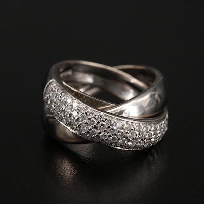 Alfieri & St. John 18K Diamond Rolling Ring