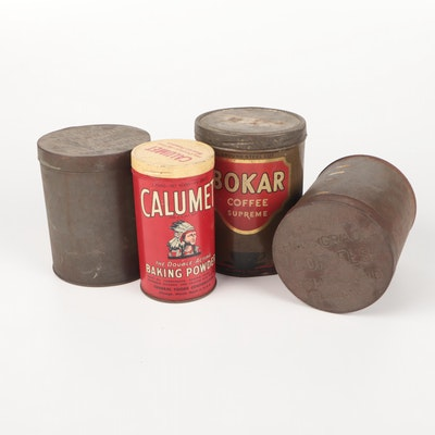 Coffee Cans and Calumet Tin, Early 20th Century