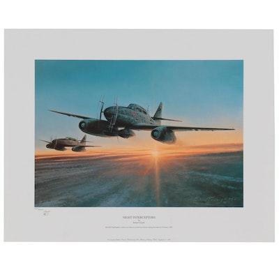"""Robert Taylor Offset Lithograph """"Night Interceptors,"""" 1994"""