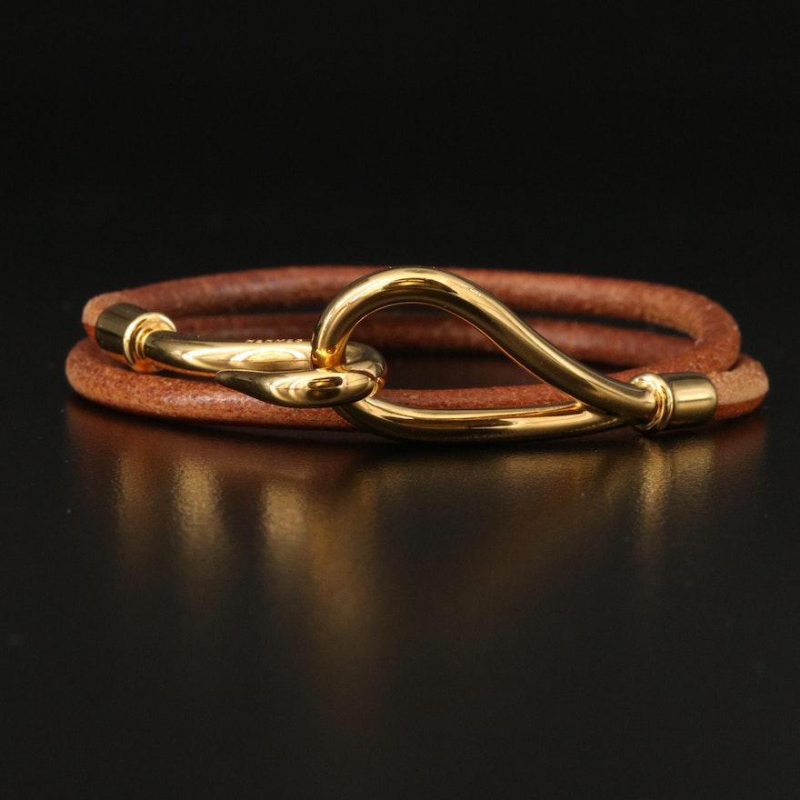 Hermès Double Tour Jumbo Hook Bracelet
