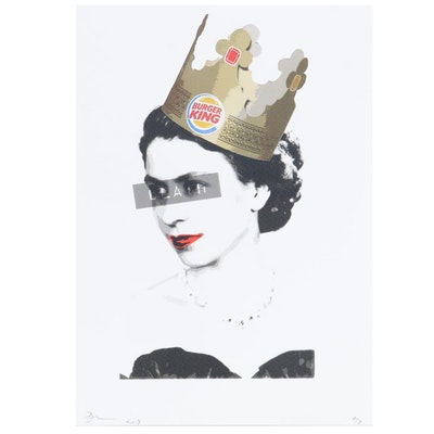 "Death NYC Pop Art Graphic Print ""Burger Queen,"" 2019"