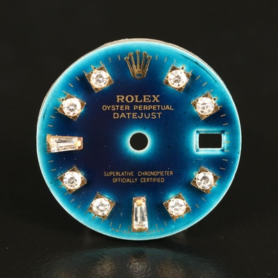 Turquoise Color Rolex Aftermarket Datejust Diamond Watch Dial
