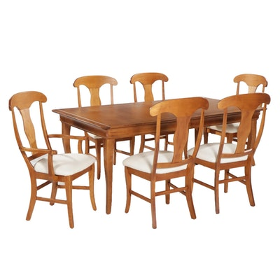 French Provincial Style Maple Seven-Piece Dining Set