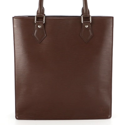 Louis Vuitton Sac Plat in Moka Epi and Smooth Leather