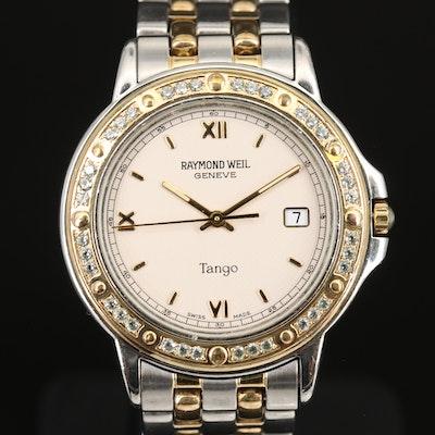 Stainless Steel Raymond Weil Tango Cubic Zirconia Wristwatch