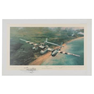 """Robert Taylor Offset Lithograph """"Doolittle's D-Day"""""""