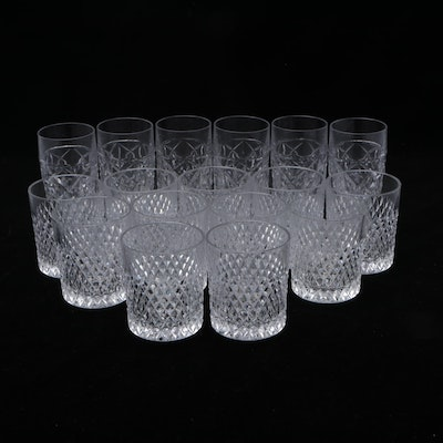 Old Fashioned and Highball Pressed Glass Cocktail Glasses