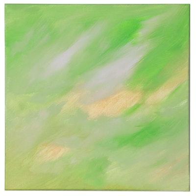 "Saul Gefen Acrylic Painting ""Summer Glow,"" 21st Century"