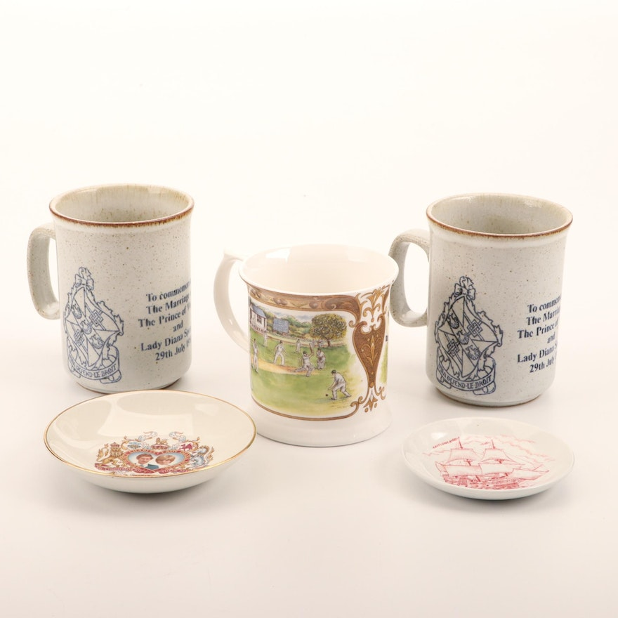 Prince Charles and Lady Diana Wedding Souvenir Mugs and Other Tableware