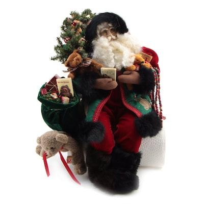 "Lynn Haney Collection ""Bedtime Stories"" Santa Claus Holiday Table Decor, 1997"