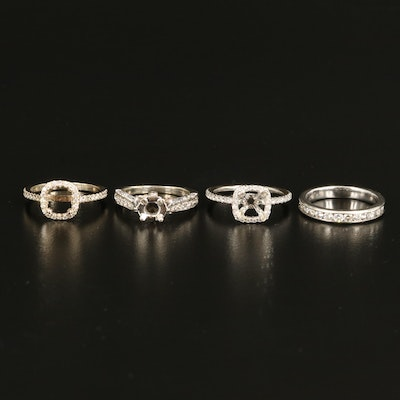 14K and 18K Diamond Semi-Mount Rings and Band