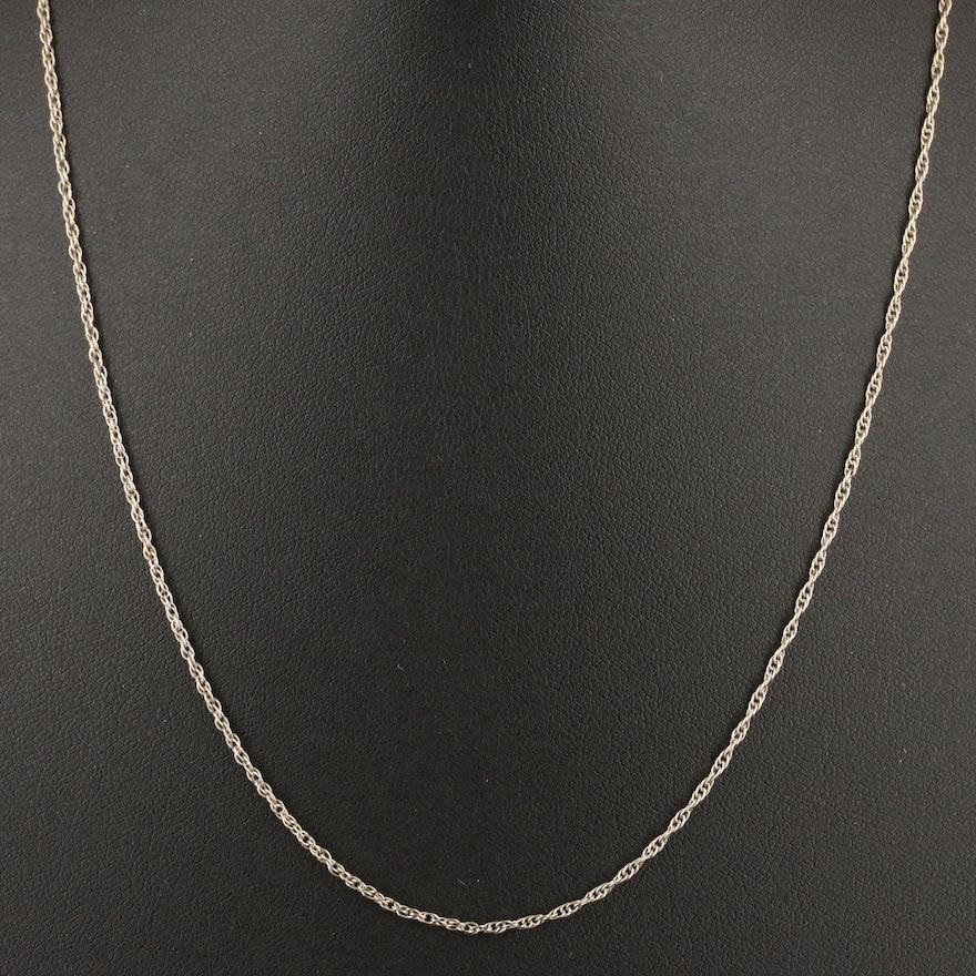 14K Singapore Chain Necklace