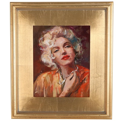 """Adam Deda Oil Painting """"Marilyn's Pearls,"""" 2021"""