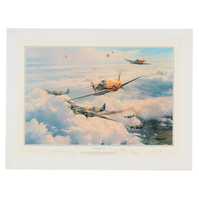 """Robert Taylor Offset Lithograph """"Most Memorable Day"""""""