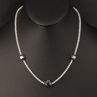 14K Moissanite and 3.35 CTW Diamond Necklace