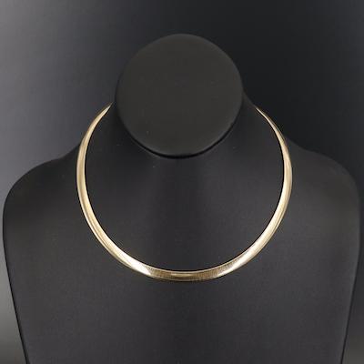 Sterling Reversible Omega Necklace