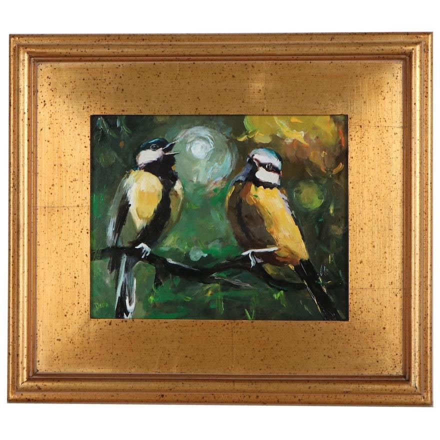 "Adam Deda Oil Painting ""Morning Song,"" 2021"