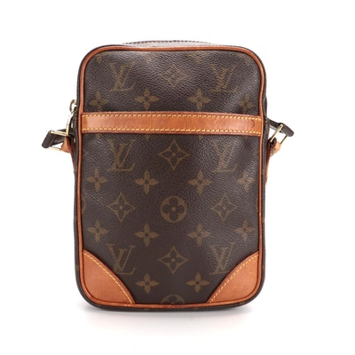 Louis Vuitton Danube Crossbody Bag in Monogram Canvas with Leather Trim