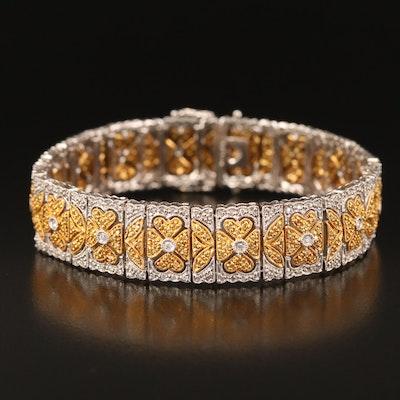 18K 2.78 CTW Patterned Bracelet