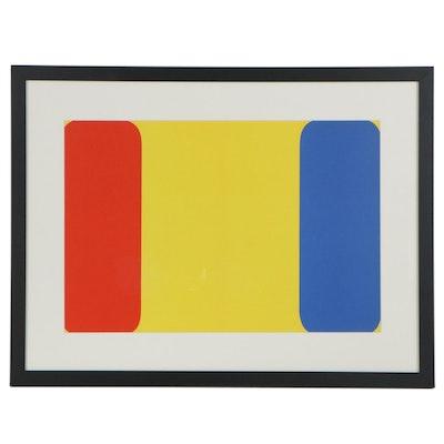 """Ellsworth Kelly Double-Page Color Lithograph for """"Derrière le Miroir,"""" 1964"""