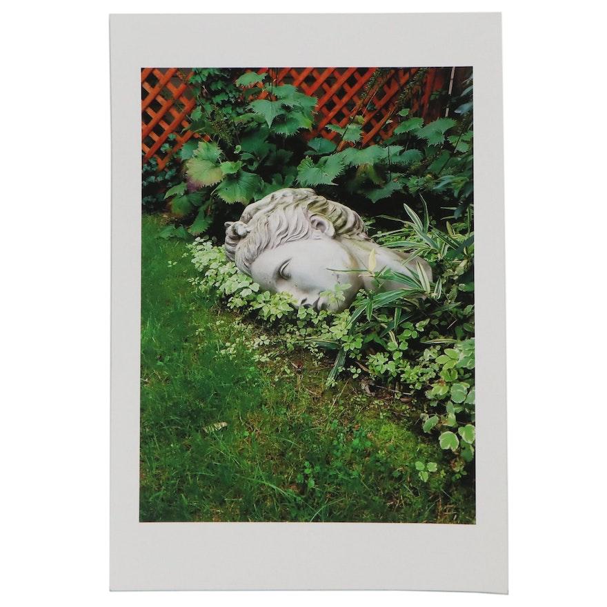 Patrick J. McArdle Digital Photograph of Statue in Garden, 2021